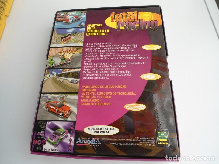 Videojuegos y Consolas: FATAL RACING - JUEGO PC COMPLETO CON PUBLICIDAD - GREMLIN 1995 - EDICION CD-ROM - Foto 6 - 199531161