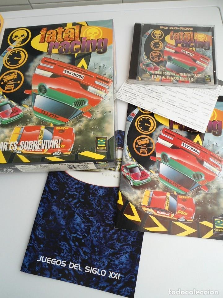 FATAL RACING - JUEGO PC COMPLETO CON PUBLICIDAD - GREMLIN 1995 - EDICION CD-ROM (Juguetes - Videojuegos y Consolas - PC)