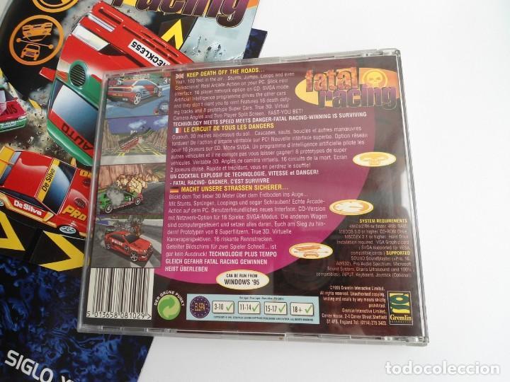 Videojuegos y Consolas: FATAL RACING - JUEGO PC COMPLETO CON PUBLICIDAD - GREMLIN 1995 - EDICION CD-ROM - Foto 10 - 199531161
