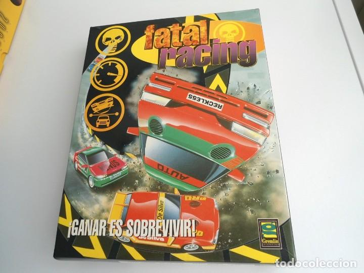 Videojuegos y Consolas: FATAL RACING - JUEGO PC COMPLETO CON PUBLICIDAD - GREMLIN 1995 - EDICION CD-ROM - Foto 3 - 199531161