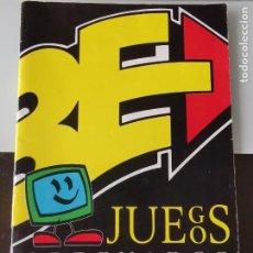 Videojuegos y Consolas: REVISTA CATÁLOGO GAMES ERBE SOFTWARE S.A. VIDEOJUEGOS JUEGOS ORDENADOR PC MSX. Lote 199685988