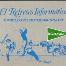 Videojuegos y Consolas: EL REFRESCO INFORMÁTICO 10 JUEGOS EXCEPCIONALES PC. EL CORTE INGLÉS-ERBE, DISCO 5 1/4, 1988, RARO. Lote 200162857