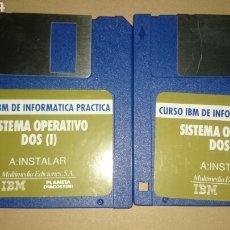 Videojuegos y Consolas: 2 DISQUETES SISTEMA OPERATIVO DOS. CURSO IBM DE INFORMATICA PRACTICA. Lote 200573540