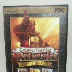 Videojuegos y Consolas: GRANDES BATALLAS MEDIEVALES ANTHOLOGY CON INSTRUCCIONES . Lote 200600362