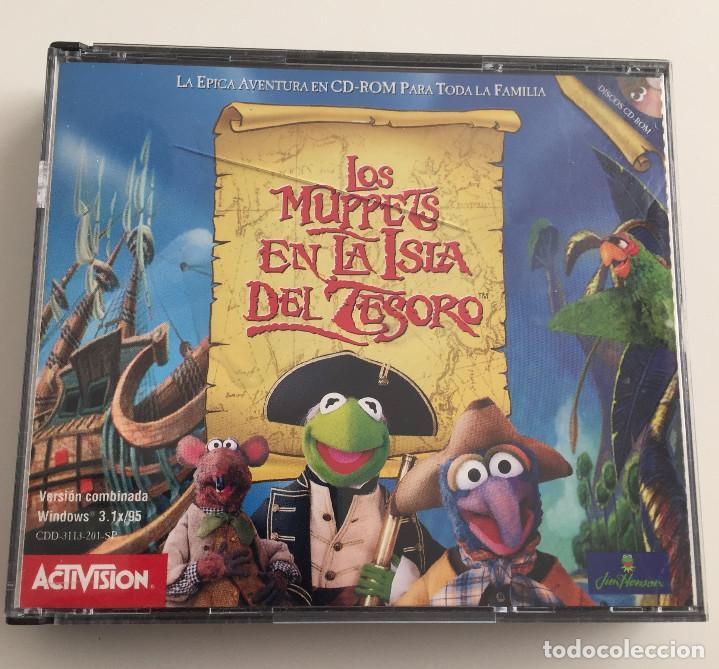 LOS MUPPETS EN LA ISLA DEL TESORO - ACTIVISION - 3 CD-ROM - 1997 (Juguetes - Videojuegos y Consolas - PC)