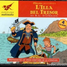 Videojuegos y Consolas: CLÀSSICS MULTIMEDIA L`ILLA DEL TRESOR DE R.L. STEVENSON *** 4 CD-ROM. Lote 202910292