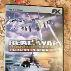 Videojuegos y Consolas: REAL WAR REBELIÓN EN RUSIA JUEGO DE PC DE FX COLECCIÓN EL MUNDO. Lote 203858783