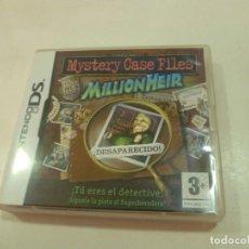 Videojogos e Consolas: JUEGO DE LA NINTENDO DS: MYSTERY CASE FILES MILLIOHEIR-NUEVO. Lote 204814927