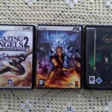 Videojuegos y Consolas: PACK 3 JUEGOS PC - AVENCAST - BLAZING ANGELS 2 - LEGEND (ESTILO DIABLO). Lote 205658916