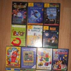 Videojuegos y Consolas: LOTE 14 JUEGOS DE PC CD-ROM - PARA NIÑOS PEQUEÑOS EN SU MAYORIA EN CATALAN - CAILLOU / NODDY / ETC. Lote 205851216