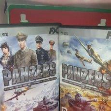 Videojuegos y Consolas: PANZERS Y PANZERS II-BASADO EN HECHOS HISTÓRICOS. (DOS JUEGOS). Lote 207133225