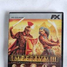 Videojuegos y Consolas: IMPERIVM III PC LAS GRANDES BATALLAS DE ROMA. Lote 207247718