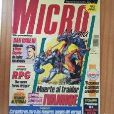 Videojuegos y Consolas: MICROMANIA 27 SEGUNDA EPOCA, DAN DARE III, IVANHOE, RPG, REGRESO AL FUTURO... MICRO MANIA. Lote 207255355