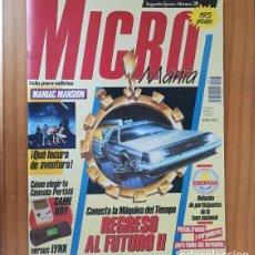 Videojuegos y Consolas: MICROMANIA 28 SEGUNDA EPOCA, MANIAC MANSION, REGRESO AL FUTURO, VENDETTA... MICRO MANIA. Lote 207255361