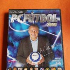 Videojuegos y Consolas: PC FÚTBOL 2005 MICHAEL ROBINSON CD-ROM WINDOWS. Lote 207276396