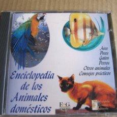 Videojuegos y Consolas: CD PARA ORDENADOR PC ENCICLOPEDIA MULTIMEDIA DE LOS ANIMALES DOMESTICOS 1996. Lote 207385557