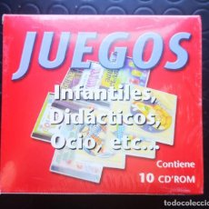 Videojuegos y Consolas: JUEGOS PARA PC... INFANTILES, DIDACTICOS, OCIO, ETC.. BOX 10 CDS.. Lote 208814821