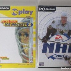 Videojuegos y Consolas: JUEGOS PC - NHL 2001 Y ACTUA ICE HOCKEY 2. Lote 208912070