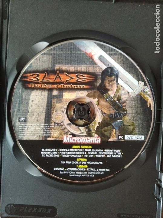 Videojuegos y Consolas: MICROMANIA Nº 120 DVD ROM- BLADE THE EDGE OF DARKNESS JUEGO COMPLETO + 12 DEMOS Y +++ - Foto 3 - 210002038