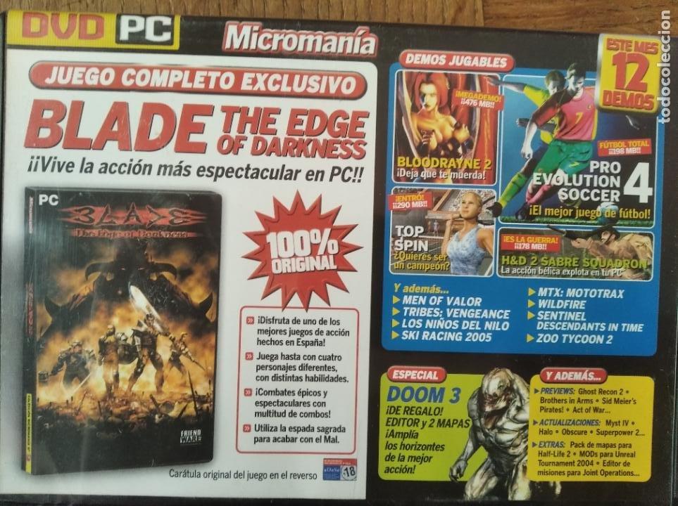 MICROMANIA Nº 120 DVD ROM- BLADE THE EDGE OF DARKNESS JUEGO COMPLETO + 12 DEMOS Y +++ (Juguetes - Videojuegos y Consolas - PC)