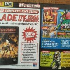 Videojuegos y Consolas: MICROMANIA Nº 120 DVD ROM- BLADE THE EDGE OF DARKNESS JUEGO COMPLETO + 12 DEMOS Y +++. Lote 210002038