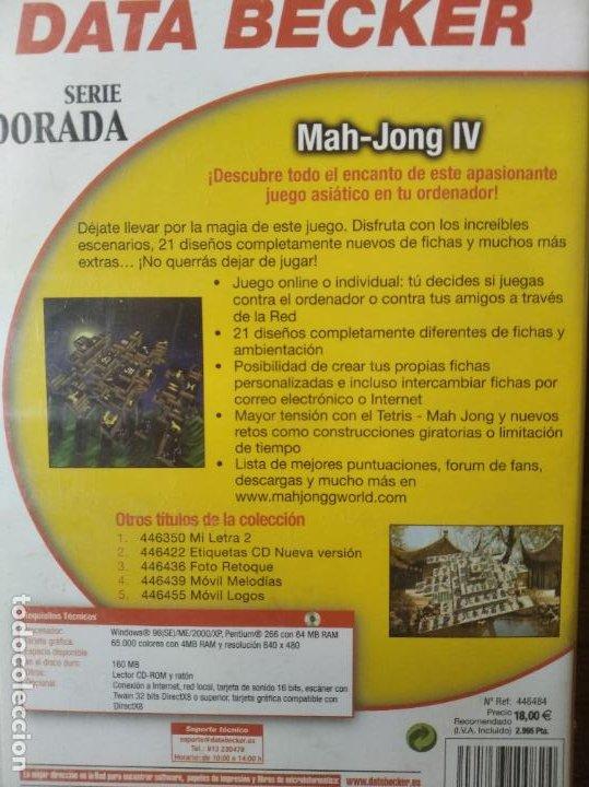 Videojuegos y Consolas: MAH-JONG IV - PC CD-ROM - - Foto 2 - 210003023