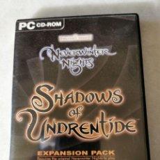 Videojuegos y Consolas: NEVERWINTER NIGHTS SHADOWS OF UNDRENTIDE EXPANSION NEVER WINTER SHADOW NIGHT PC CD ROM KREATEN. Lote 210134733