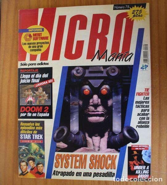 MICROMANIA 78 SEGUNDA EPOCA, DOOM 2, SYSTEM SHOCK, STAR TREK, TIE FIGHTER, INFERNO... MICRO MANIA (Juguetes - Videojuegos y Consolas - PC)