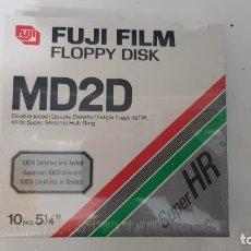 Videojuegos y Consolas: 10 DISCOS 5.1/4 FUJIFILM FLOPPY DISK MD2D PRECINTADO. Lote 211436676