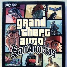 Videojuegos y Consolas: GRAND THEFT AUTO SAN ANDREAS 2005 PARA PC. INCLUYE LIBRO DE INSTRUCCIONES CON MAPA Y POSTER.. Lote 211629162