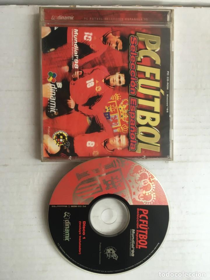 PC FUTBOL SELECCION ESPAÑOLA PC CD ROM WINDOWS 95 MUNDIAL 98 CLASIFICACION EUROCOPA 2000 KREATEN (Juguetes - Videojuegos y Consolas - PC)