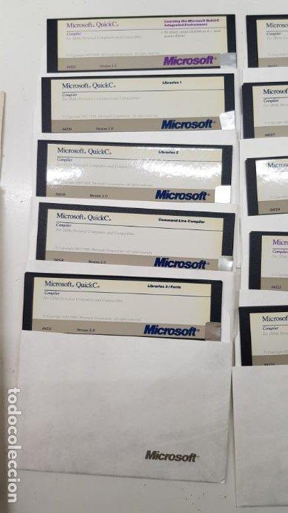 """Videojuegos y Consolas: Microsoft QuickC v2.0 (Compilador, 1988) Paquete 10 Discos 5.1/4"""" con licencia. - Foto 3 - 211718506"""