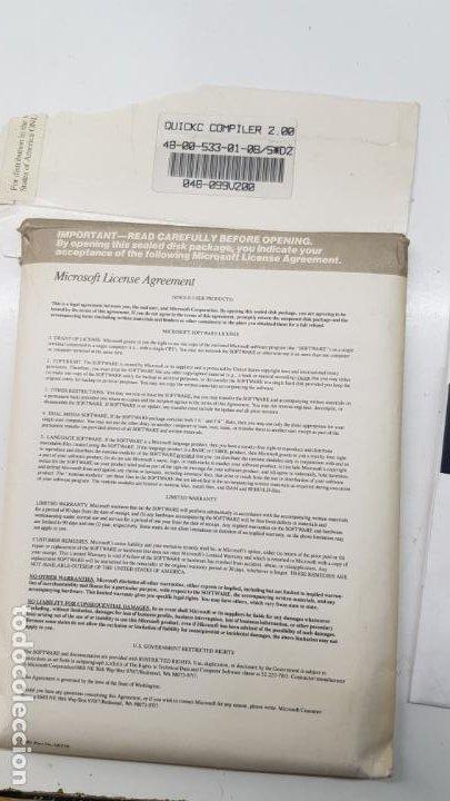 """Videojuegos y Consolas: Microsoft QuickC v2.0 (Compilador, 1988) Paquete 10 Discos 5.1/4"""" con licencia. - Foto 4 - 211718506"""
