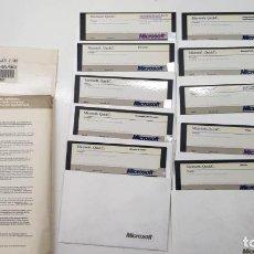 """Videojuegos y Consolas: MICROSOFT QUICKC V2.0 (COMPILADOR, 1988) PAQUETE 10 DISCOS 5.1/4"""" CON LICENCIA.. Lote 211718506"""