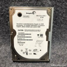Videojuegos y Consolas: DISCO DURO 2,5 SATA 60GB PC. Lote 211922261