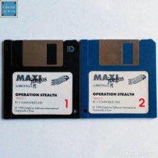 Videojuegos y Consolas: OPERATION STEALTH / JUEGO PC EN 2 DISQUETES HD 3,5´´ / ESPAÑOL / KIXX 1990. Lote 212868521