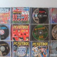 Videojuegos y Consolas: LOTE 13 JUEGOS PC FÚTBOL. Lote 213500235