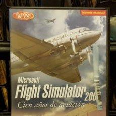 Videojuegos y Consolas: PC CD-ROM FLIGHT SIMULADOR 2004 CIEN AÑOS DE AVIACIÓN INCLUYE 4 DISCO + LIBRO EN ESPAÑOL. Lote 213711603