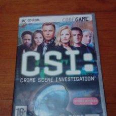Videojuegos y Consolas: PC ROM. CSI CRIME SCENE INVESTIGATION. Lote 213723652