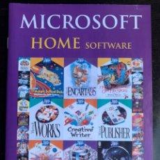 Videojuegos y Consolas: CATÁLOGO DE 1994 DE JUEGOS PARA ORDENADOR PC MICROSOFT SOFTWARE. Lote 213777063