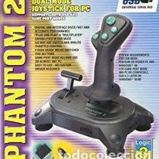 Videojuegos y Consolas: EXTRAORDINARIO AUXILIAR DE JUEGOS PC: RETRO GAMING LOGIC 3 PHANTOM 2 USB WIRED JOYSTICK. Lote 213795253