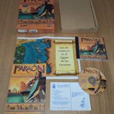 Videojuegos y Consolas: JUEGO PC FARAON - EDICION ESPAÑOLA - COMPLETO - CAJA DE CARTON. Lote 213989277