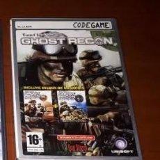 Videojuegos y Consolas: GHOST RECON, 3 DISCOS, JUEGO PC. A ESTRENAR.. Lote 214378528