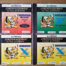 Videojuegos y Consolas: LOTE CD-ROM ¿ORDENADORES? NO HAY PROBLEMA: NÚMEROS 4-6-7-8 (EL MUNDO, 1997). CURSO INTERACTIVO. Lote 214817071