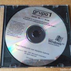 Videojuegos y Consolas: PC CD-ROM GRUPO 1 RECUPERACIÓN DE PRODUCTO MICROSOFT WINDOWS XP HOME EDITION (2001). SIN CARÁTULA.. Lote 217545973