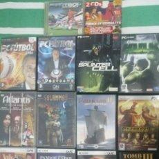 Videojuegos y Consolas: LOTE 14 JUEGOS PC. PC FÚTBOL. MARVEL. UBISOFT. SPLINTER CELL. TOMB RAIDER. IMPERIUM.. Lote 193403965