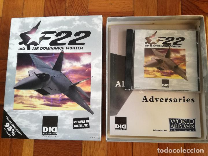 F22 DID AIR DOMINANCE FIGHTER - SOFTWARE EN CASTELLANO - JUEGO PARA PC. CD ROM PERFECTO COMO NUEVO (Juguetes - Videojuegos y Consolas - PC)