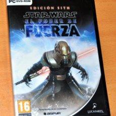 Videojuegos y Consolas: 2 DISCOS PC DVD-ROM: STAR WARS - EL PODER DE FUERZA - EDICIÓN SITH - EDITA: LUCAS ARTS / ASPYR. Lote 218145587