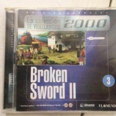 Jeux Vidéo et Consoles: BROKEN SWORD II 2 2 CDS PC CD ROM WINDOWS 95 98 2000 EMPIRE KREATEN. Lote 218432451