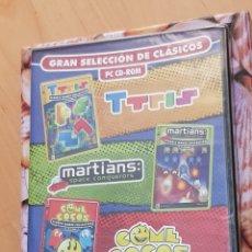 Videojuegos y Consolas: JUEGO PC NUEVO SIN ABRIR - GRAN SELECCIÓN DE CLÁSICOS TETRIS COME COCOS MARTIANS. Lote 219189856